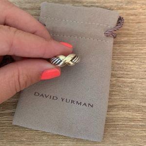 David Yurman Sterling Silver 14k Yellow Gold X